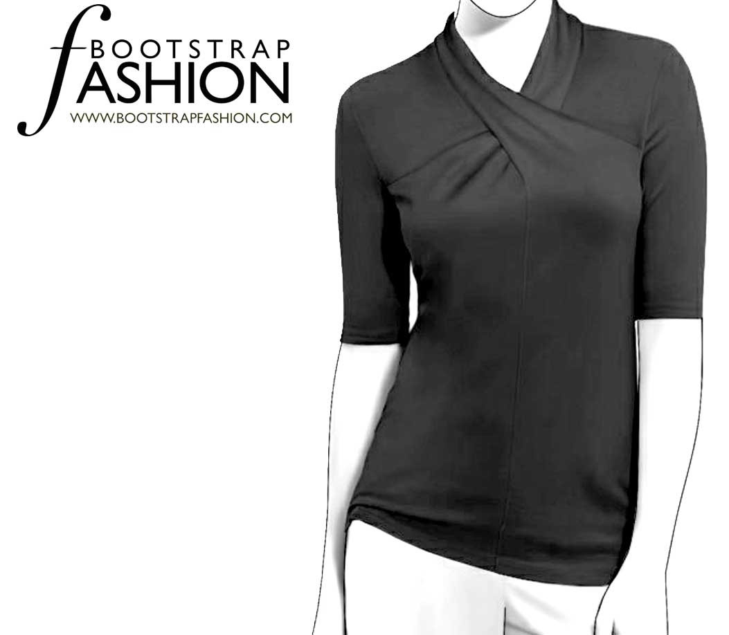 Sewing patterns for knits choice image craft decoration ideas bootstrapfashion designer sewing patterns affordable trend fashion designer sewing patterns short sleeved cross neck knit top jeuxipadfo Gallery