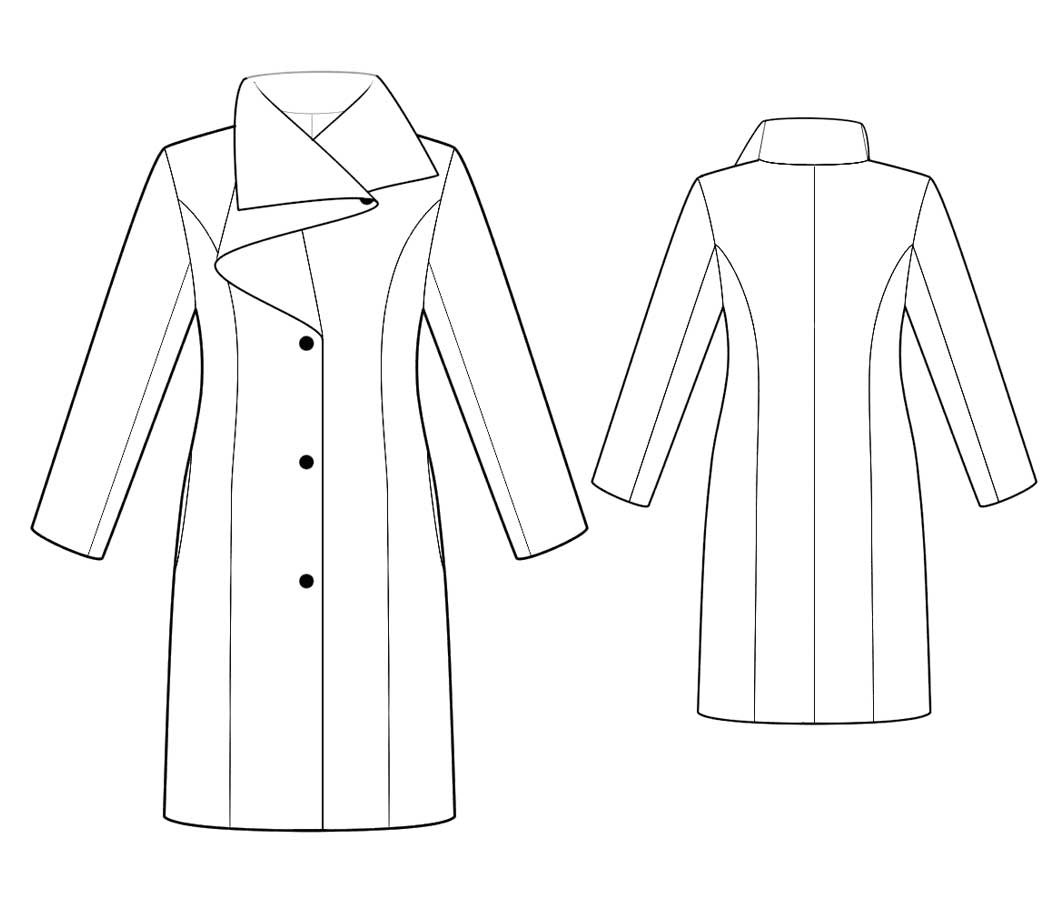 Bootstrapfashion designer sewing patterns affordable trend fashion designer sewing patterns tailored coat with couture draped collar jeuxipadfo Images