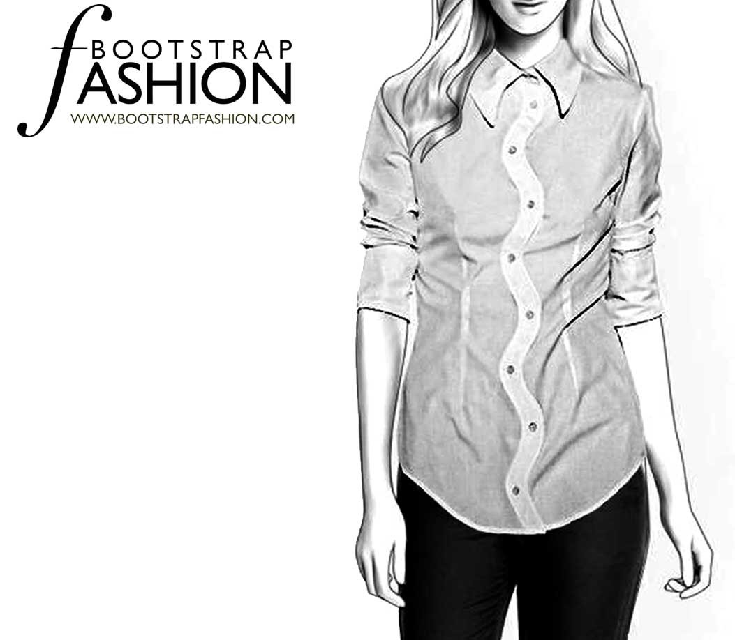 Designer sewing patterns for Custom pattern button down shirts