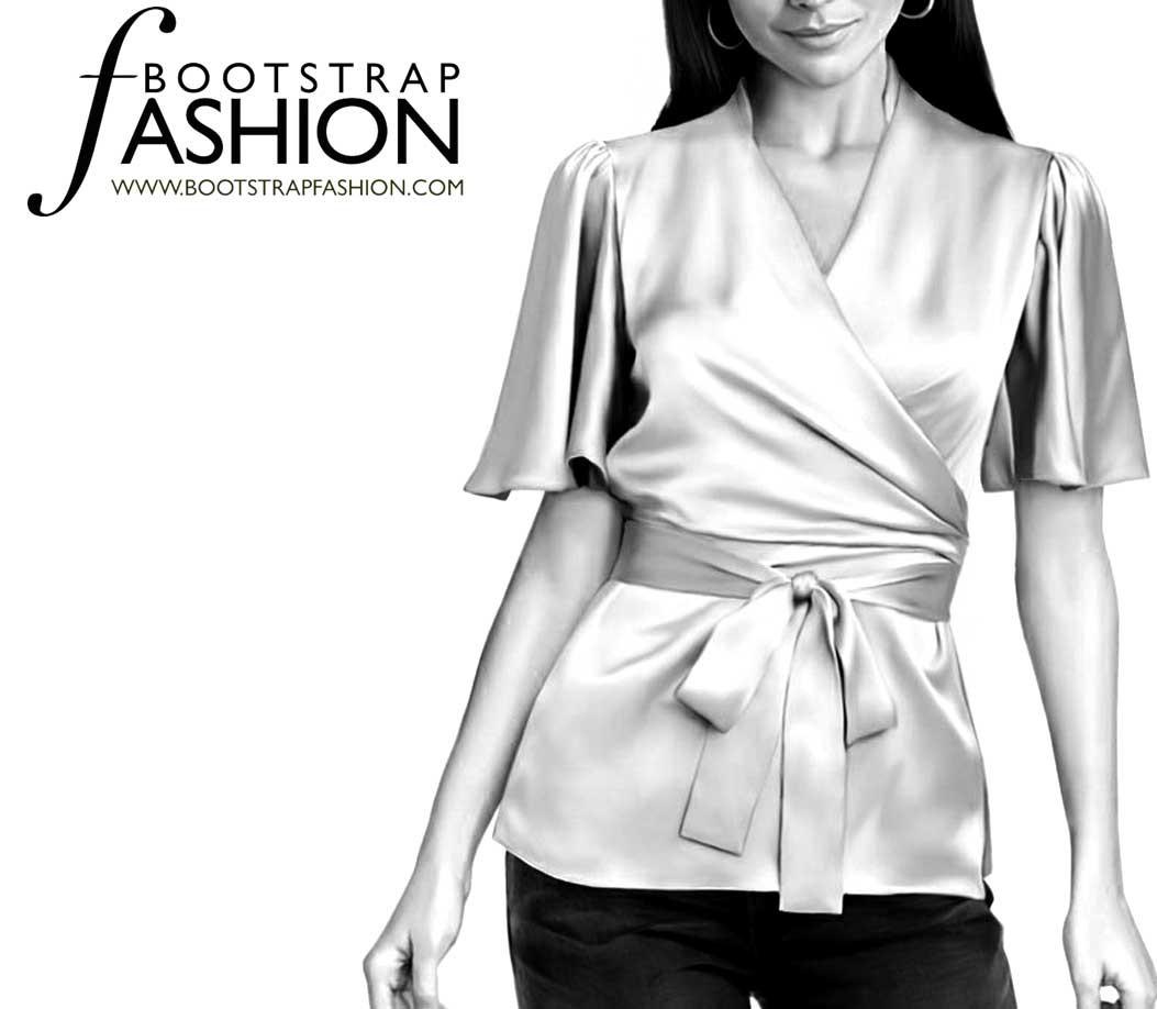 Bootstrapfashion designer sewing patterns affordable trend fashion designer sewing patterns short sleeved wrap blouse jeuxipadfo Choice Image