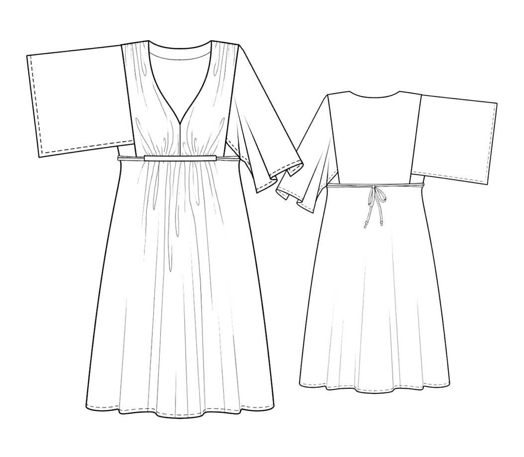 Bootstrapfashion designer sewing patterns affordable trend fashion designer sewing patterns kimono sleeve knit dress jeuxipadfo Images