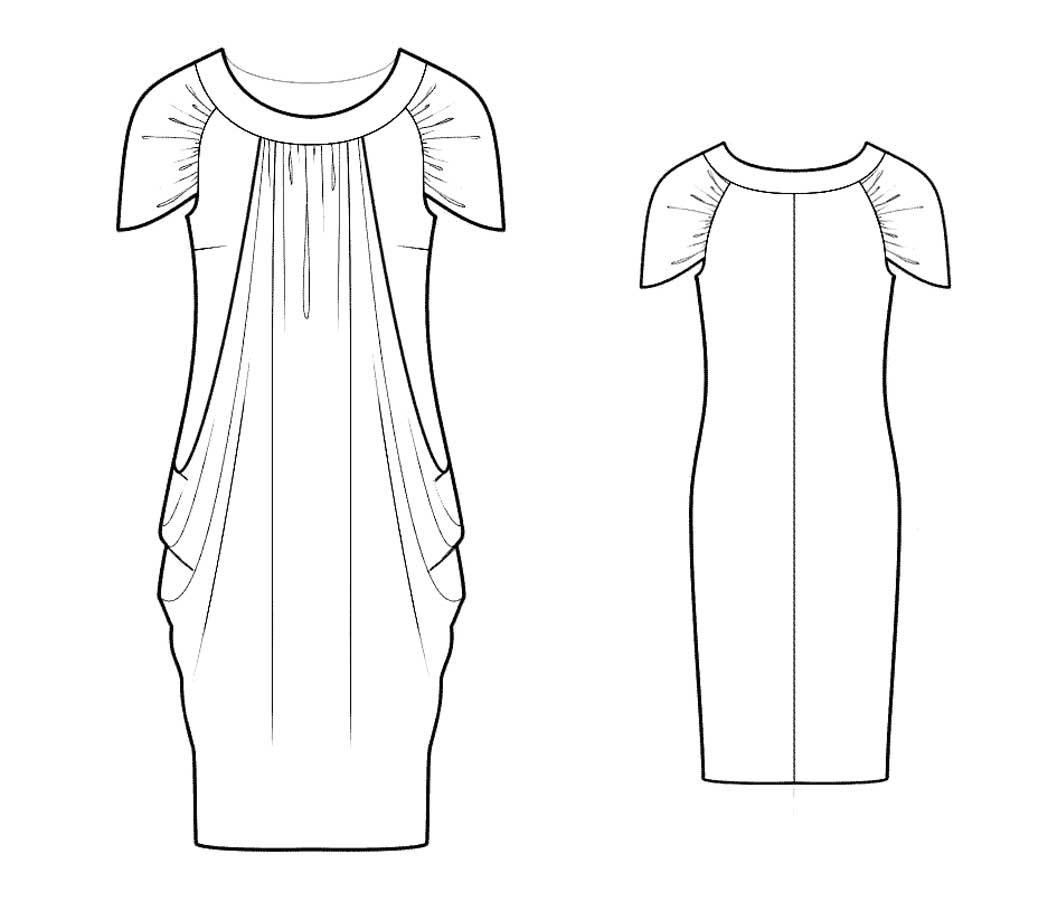 Bootstrapfashion designer sewing patterns affordable trend fashion designer sewing patterns draped layered dress jeuxipadfo Images