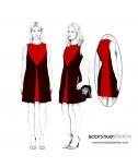 Custom-Fit Sewing Patterns - Shift With Front Flyaway