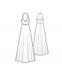 Custom-Fit Sewing Patterns - Plunging Neck Halter Maxi Dress