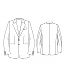 Made-To-Measure Modern Fit 2 Button Men's Jacket