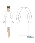 New and Improved Fitting Pattern! Exclusive CustomFit Sewing Patterns - Raglan Sloper (Basic Block) For Knits