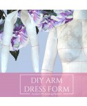 Custom-Fit Sewing Pattern DIY Dress Form Add-on Arm and a Complete Step-by-Step Sewing Photo-Guide.