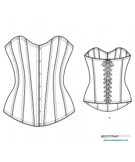 Custom-Fit Sewing Patterns - Exclusive!! Classic Front Closure Corset