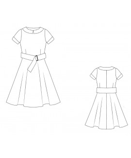 Alla Hesse Designs Made-To-Measure Vintage Dress With Collar