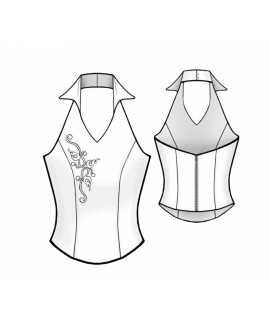 Custom-Fit Sewing Patterns -Collared Halter Corset