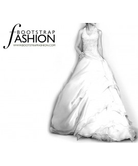 Custom-Fit Sewing Patterns - Bridal Halter Gown