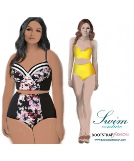Exclusive! Custom-Fit Swimwear: 2-piece Set. Includes Step-by-Step Illustrated Sewing Instructions