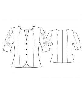 Custom-Fit Sewing Patterns - Short Jacket with Ruffle Sleeves