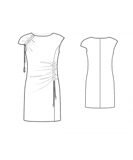 Custom-Fit Sewing Patterns - Asymmetrical Draped Knit Dress