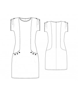Custom-Fit Sewing Patterns - Capped Sleeve Peekaboo Dress