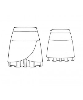 Custom-Fit Sewing Patterns - A-Line Faux Wrap Skirt With Underskirt