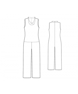 Custom-Fit Sewing Patterns - Basic Short Sleeve Jumpsuit
