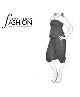 Custom-Fit Sewing Patterns - Baggy Halter Jumpsuit