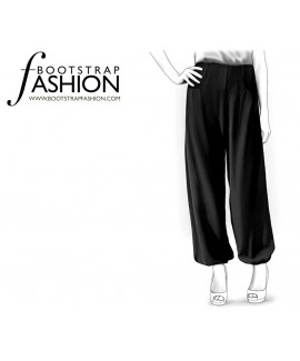 Custom-Fit Sewing Patterns - Baloon Pants