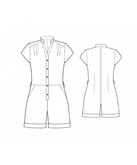 Custom-Fit Sewing Patterns - Button Up Romper