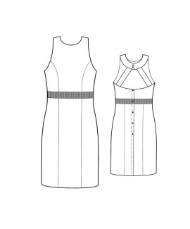 Custom-Fit Sewing Patterns - Halter Dress With Princess Seams and Cut-Out Back