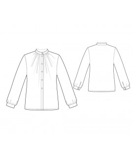 Custom-Fit Sewing Patterns - Button-Down Blouse with Victorian Collar