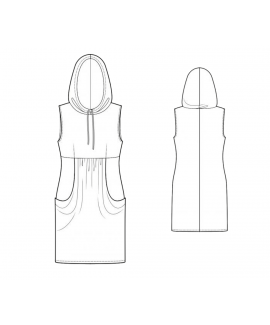 Custom-Fit Sewing Patterns - Knit Sleeveless Hoodie Dress