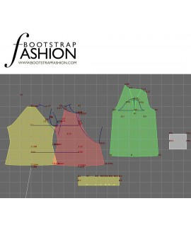 Custom-Fit Sewing Patterns - Long-Sleeved Halter-Neck Blouse