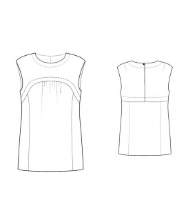 Custom-Fit Sewing Patterns - Sleeveless Yoke Front Blouse