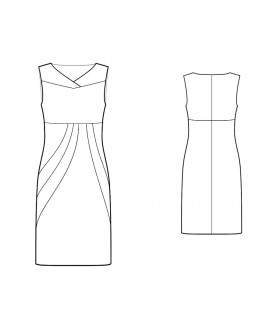 Custom-Fit Sewing Patterns - Color/Print Blocked Sculpted Dress