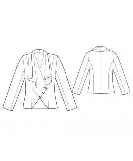 Custom-Fit Sewing Patterns - Cascading Drape Front Jacket