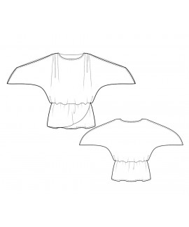 Custom-Fit Sewing Patterns - Drop-Waist Top with Raglan Sleeves