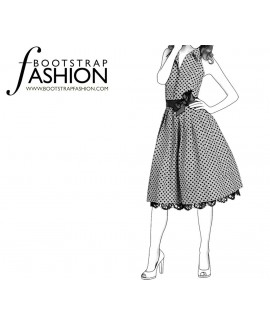 Custom-Fit Sewing Patterns - Vintage Inspired Full Skirt Dress