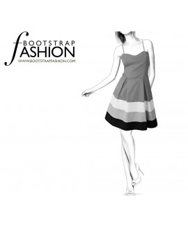 Custom-Fit Sewing Patterns - Color/Print Blocked Sundress
