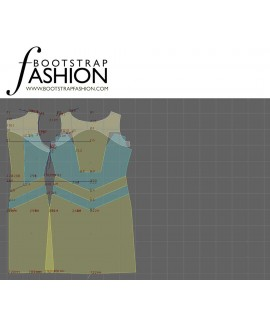 Custom-Fit Sewing Patterns - Fitted Color Block Sheath