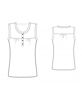 Custom-Fit Sewing Patterns - Sleeveless Baby Doll Blouse