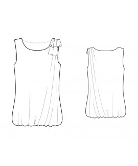 Custom-Fit Sewing Patterns - Sleeveless Top with Gathered Hem