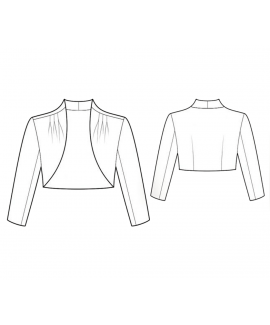 Custom-Fit Sewing Patterns - Gathered Cropped Bolero
