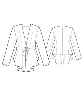 Custom-Fit Sewing Patterns - Tie Front Cascading Cardigan