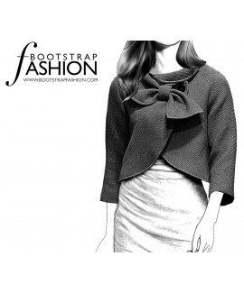 Custom-Fit Sewing Patterns - Draped Collar Cropped Coat