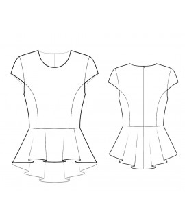 Custom-Fit Sewing Patterns - Cap Sleeved Peplum Top