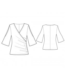 Custom-Fit Sewing Patterns - Wrap Blouse