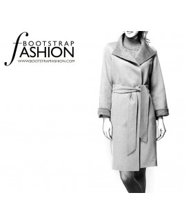 Custom-Fit Sewing Patterns - Belted Long-Sleeve Coat