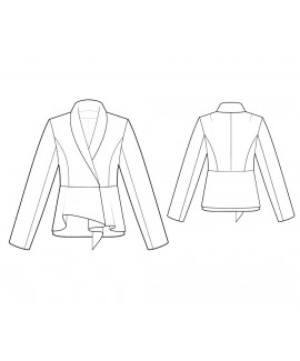 Custom-Fit Sewing Patterns - Long-Sleeved Shawl Collar Jacket