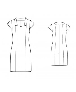 Custom-Fit Sewing Patterns - Sweetheart Neck With Collar Dress