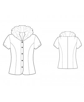 Custom-Fit Sewing Patterns - Button-Down Shirt with Ruffled Collar