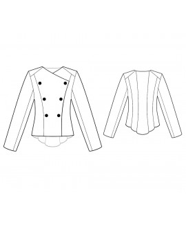 Custom-Fit Sewing Patterns - Asymmetrical Double-Breasted Jacket