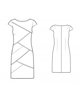 Custom-Fit Sewing Patterns - Asymmetrical Seams Dress