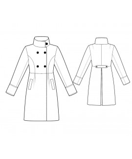 Custom-Fit Sewing Patterns - Double Breasted Empire Waist Coat