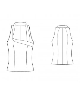 Custom-Fit Sewing Patterns - Fitted Sleeveless Blouse
